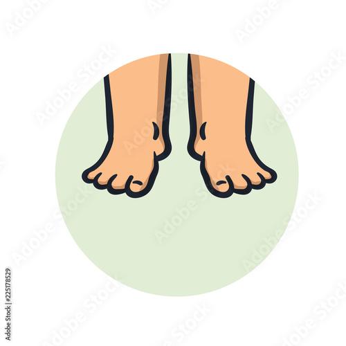 Fotografia Swollen feet icon