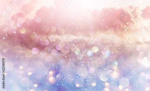 Obraz Beautiful abstract shiny light and cludscape background - fototapety do salonu