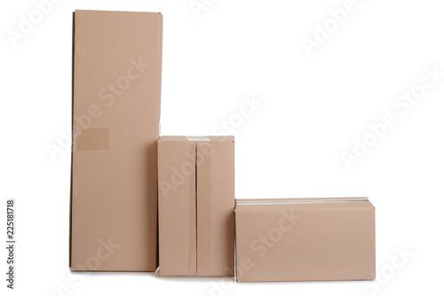Fotografia  row of cardboard boxes