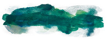 Background For Design Watercolor Spot Texture Green, Multilayer Abstract