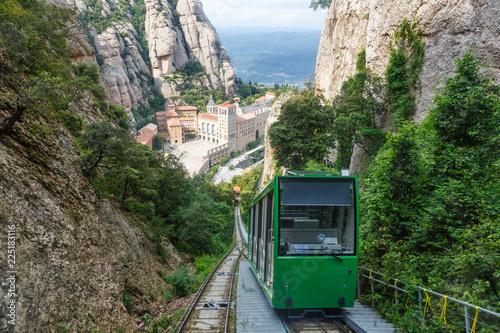 Montserrat Kloster Seilbahn Barcelona Spanien Katalonien Reise