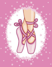 Pink Ballerina Shoes Backgroun...