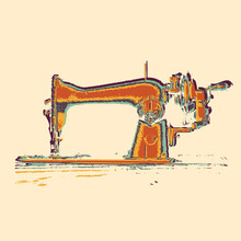 Vector Sewing Machine