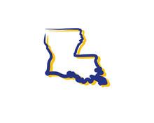 Louisiana Outline Logo Icon 1