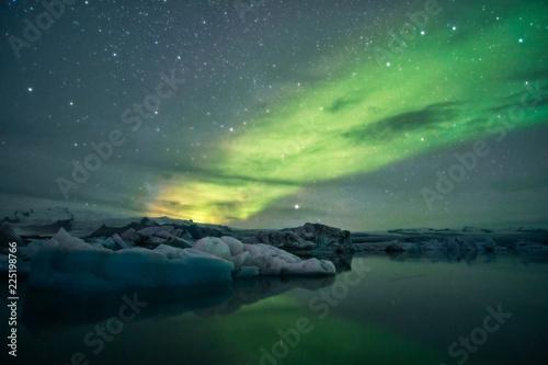 Photo Laguna Jokulsarlon Islanda Aurora Boreale