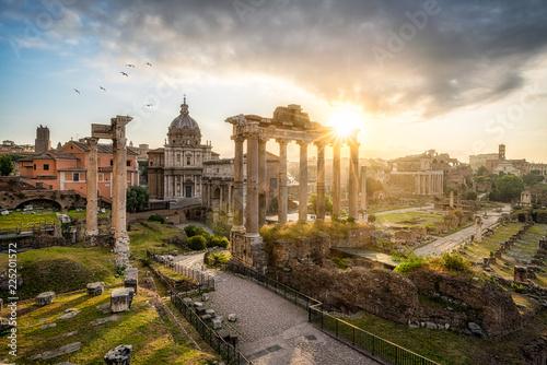 Keuken foto achterwand Centraal Europa Ruinen des Forum Romanum in Rom, Italien