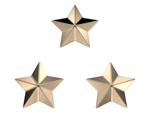 Three Military Stars Sign 3d R...