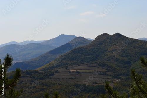 Keuken foto achterwand Zwart landscape of nature and hills