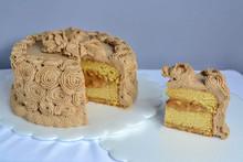 Birthday Cake Of Sweet Milk Wi...