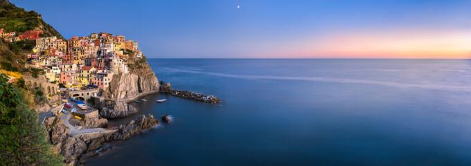 Manarola Panorama, Cinque Terre, La Spezia, Ligurien, Italien