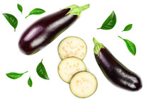 Eggplant Or Aubergine Isolated...