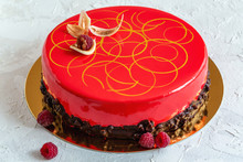 Modern Mousse Cake With Glaze ...