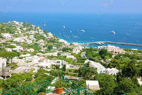 Tuinposter Eiland Capri sight from terrace, Capri Island, Italy