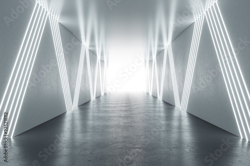 Canvas Illuminated hallway interior