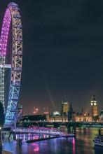 Big Ben And London Eye At Night