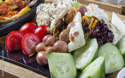 Spoed Foto op Canvas Voorgerecht salad