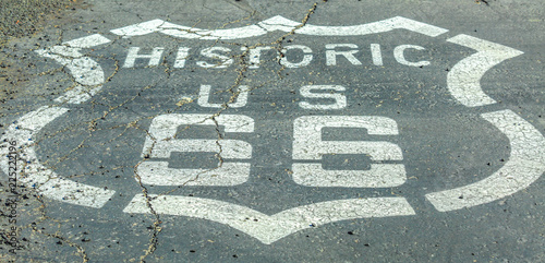 Fotografia, Obraz  Closeup of street sign on historic route 66 in Barstow, Mojave desert