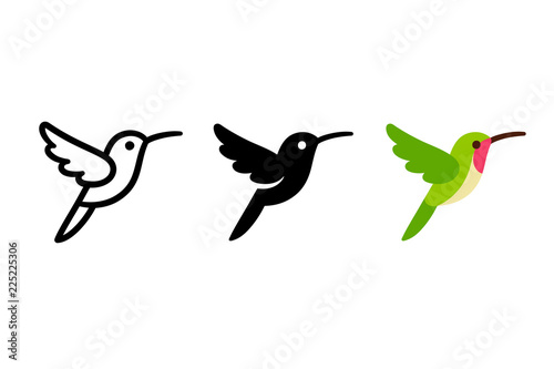 Fototapeta Stylized hummingbird icon