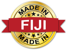 Made In Fiji Round Golden Red ...