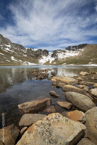 Spoed Foto op Canvas Nieuw Zeeland Summit Lake near the peak of Mount Evans in Colorado