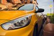 taxi amenities amber auto car urban street.