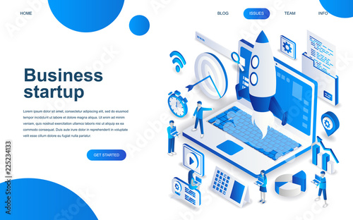 Photo  Modern isometric design concept of Startup Your Project for website and mobile website development