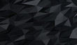 Abstract background of polygons on black and lights