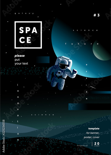 grafika-science-fiction-z-kosmonauta-i-bialym-napisem-space