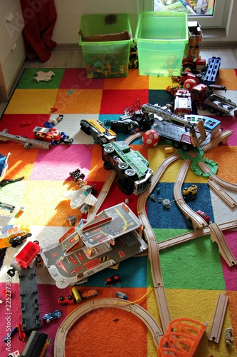 Messy kids room. Lazy child did not collet his toys - Buy ...