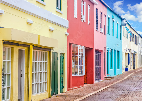 Colorful Shops in Bermuda Wallpaper Mural