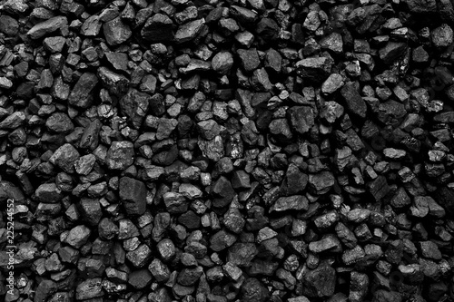 Cuadros en Lienzo A heap of black natural coal background