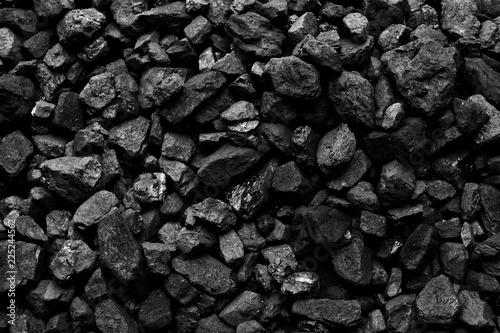 Fotografie, Tablou A heap of black natural coal background