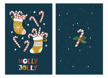 Christmas Greeting Cards With Candy Cane