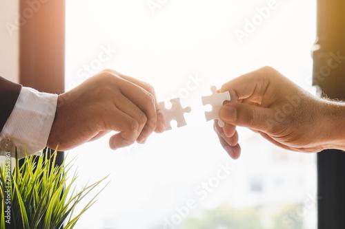 Teamwork, partners, connection concept Fototapete
