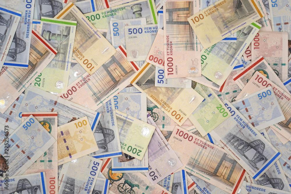 Fototapety, obrazy: Danish krone . DKK ( 1000, 500, 200, 100, 50 ) Danish krone banknotes )