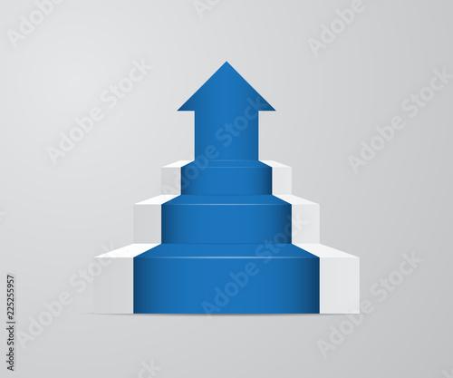 Fototapeta ladder with growth up arrow obraz