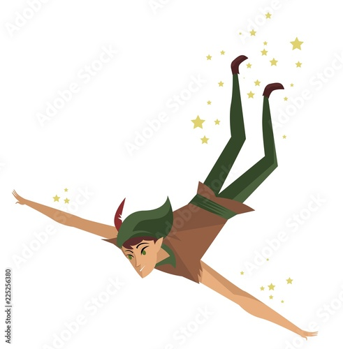Photo  magical kid flying
