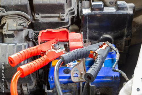 Jumper Cables For Charging Vehicle Battery Identify The Positive And