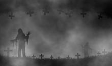 Horror Halloween Theme Illustration Design Background