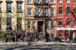 Colorful old buildings on 10th Street in the East Village of Manhattan in New York City NYC