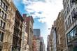 Historic buildings along Broadway in SoHo Manhattan, New York City