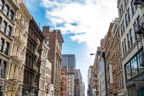 Tuinposter New York City Historic buildings along Broadway in SoHo Manhattan, New York City