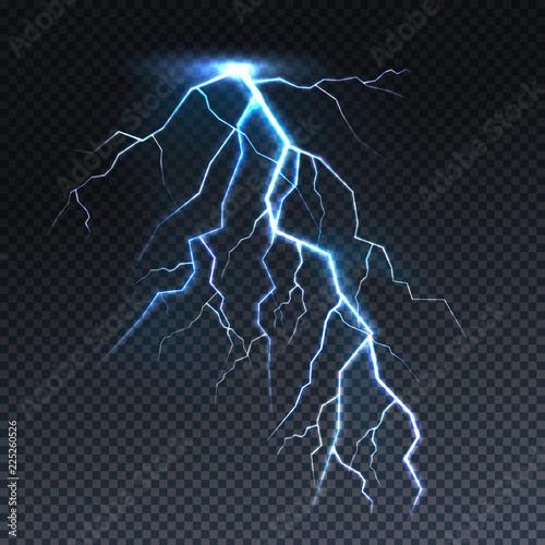 Lightning or thunderbolt light vector illustration Fototapeta