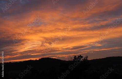 Fotobehang Zonsondergang Fotografie Sonnenaufgang in Deutschland