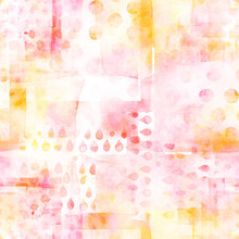 An Abstract Patchwork Seamless Watercolor Pattern In Pink
