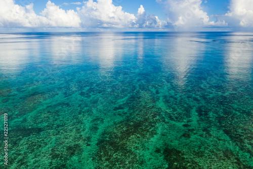 Top view of Beautiful sea and sky in Ishigaki Island