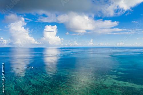 Clear blue sky and sea in ishigaki island of Japan