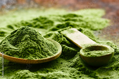 Fototapeta Green detox superfood powder obraz