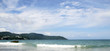 Kata beach and the beautiful sky with white clouds, Phuket, Thailand