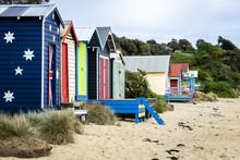 Painted Beach Shacks, Morningt...